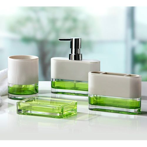 $94.99 4PC ACRYLIC SET Found it at Wayfair - Float 4-Piece Bathroom Accessory Set