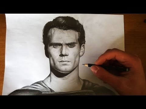 Superman ( Henry Cavill ) Speed drawing - YouTube