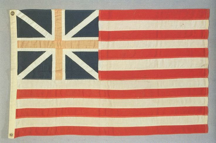 Great actual photos of historical American flags--Grand Union Flag