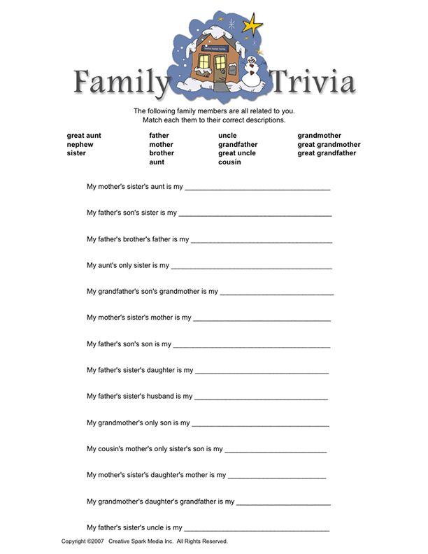 Family Trivia   very funny!
