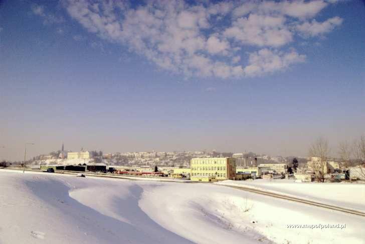 Zimowa panorama - Sandomierz