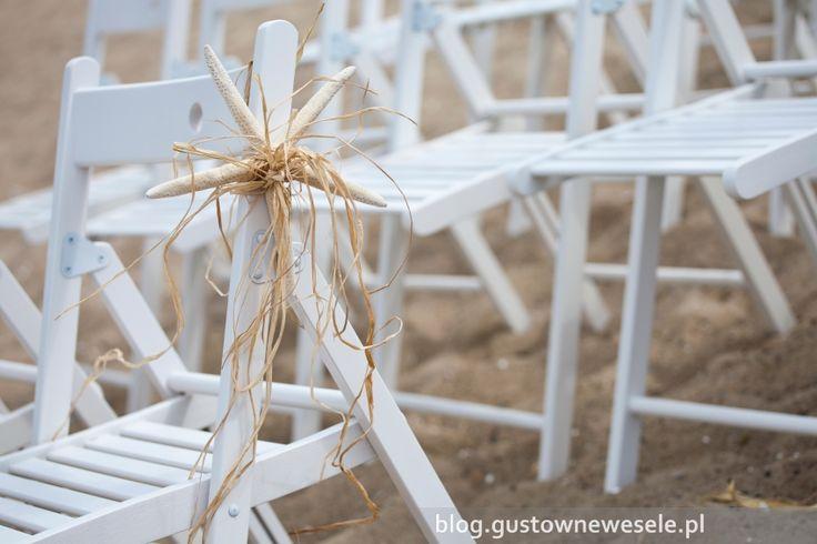 Morskie dekoracje na plenerowym ślubie na plaży   Sea decoration at an open-air wedding on the beach   Gustowne Wesele   Chic Wedding Poland