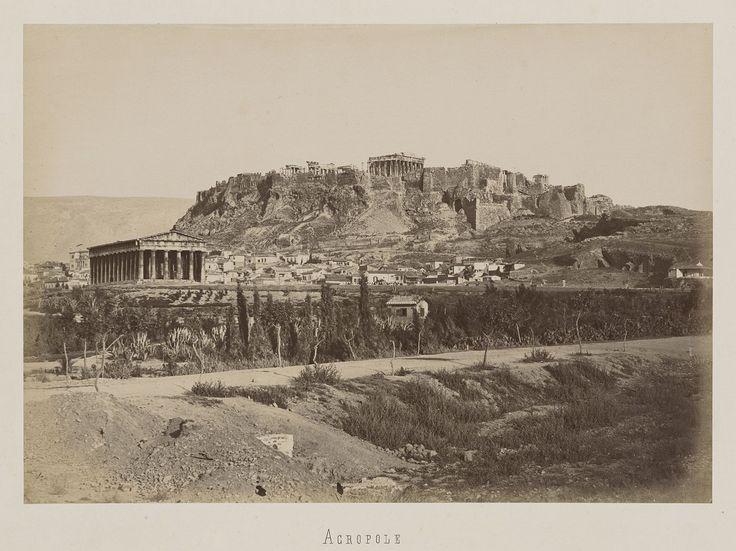 https://flic.kr/p/TWGB3i | Δυτική άποψη της Ακρόπολης και του Θησείου | ΔΗΜΗΤΡΙΟΣ ΚΩΝΣΤΑΝΤΙΝΟΥ, περίπου 1865 Ο Φράγκικος Πύργος της Ακρόπολης έχει αφαιρεθεί με φωτομοντάζ www.guimet-photo-grece.fr/notices/notice.php?tout=1&p... Album: www.guimet-photo-grece.fr/collection/ap_16242.php