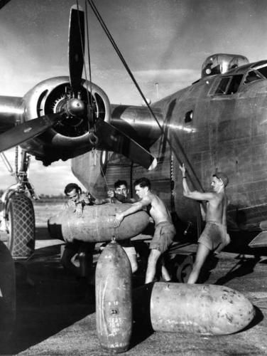 Royal Australian Air Force Consolidated B-24 Liberator in the Pacific Theatre.
