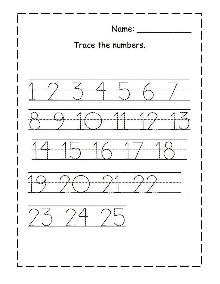 Tracing Numbers for KG Numbers preschool, Preschool