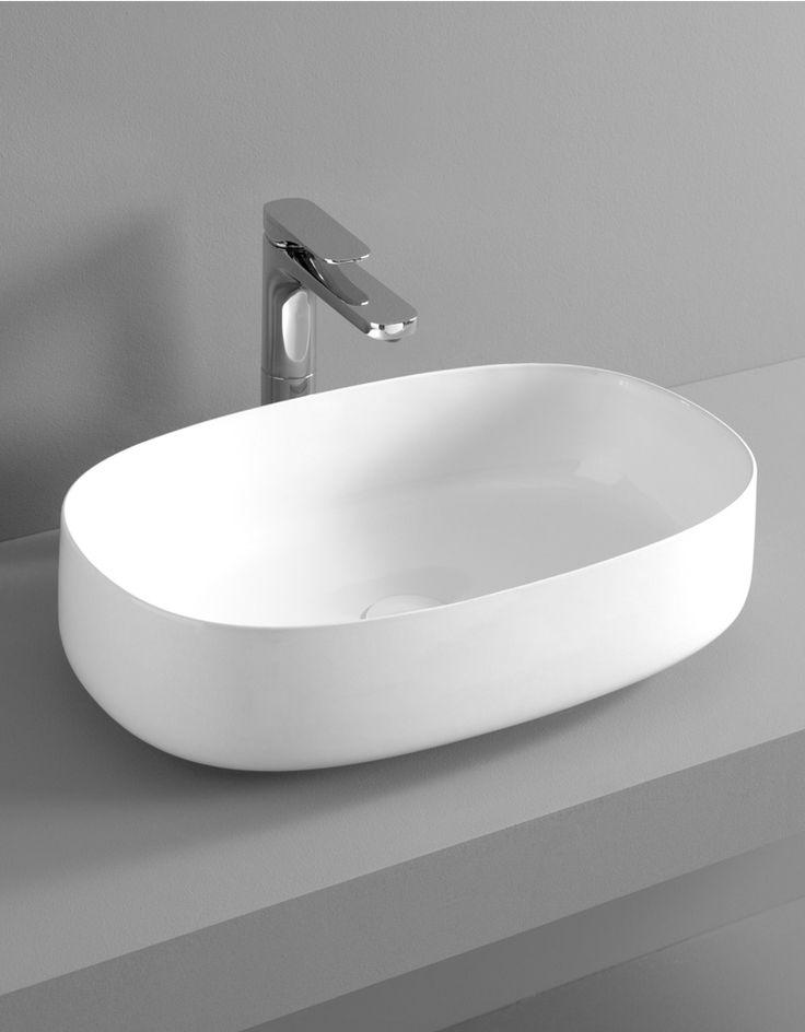 Lavabo appoggio 55 55x35 bathroom for Lavabo softly