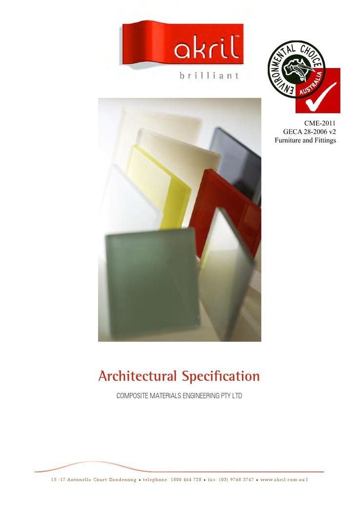 Akril Architectural Specification