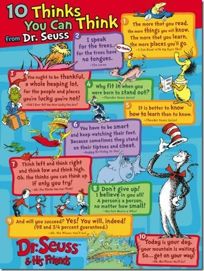 Oh the Thinks you can Think Dr. Seuss Quotes