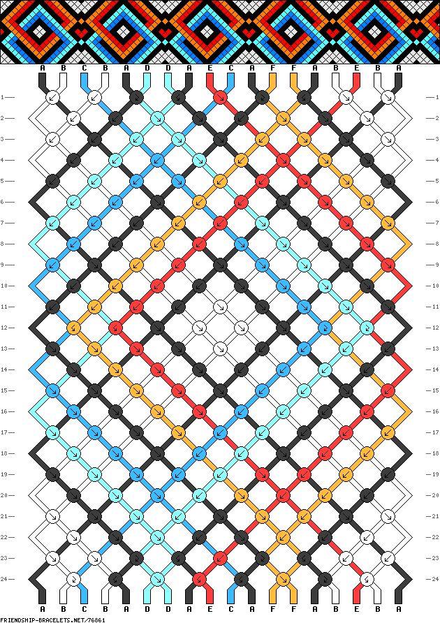 18 strings, 24 rows, 6 colors