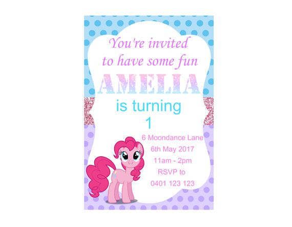 Hey, I found this really awesome Etsy listing at https://www.etsy.com/au/listing/535408916/my-little-pony-birthday-invitation