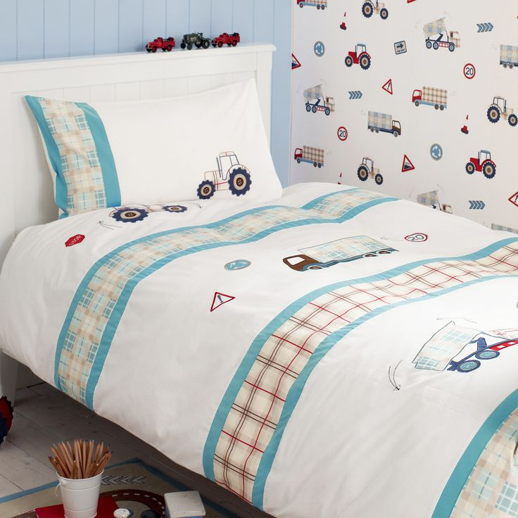 tractors and trucks bedset at laura ashley kids room. Black Bedroom Furniture Sets. Home Design Ideas