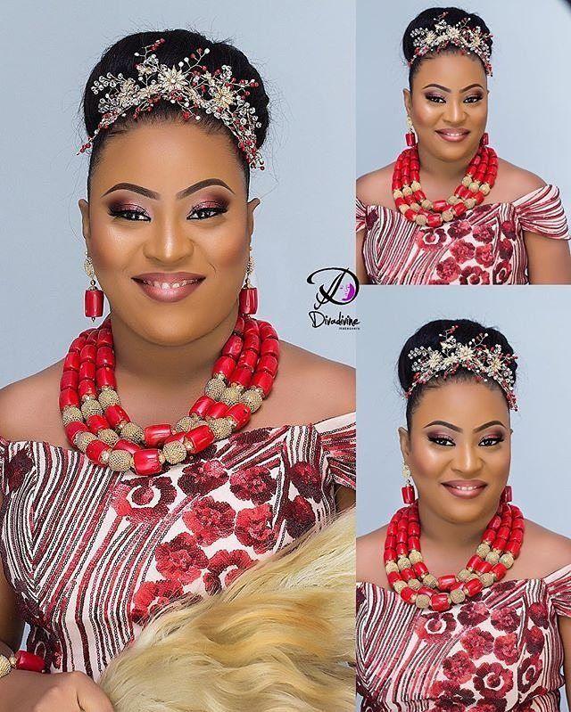 Stunning Igbo bride mua @divadivinemakeovers #sugarweddings