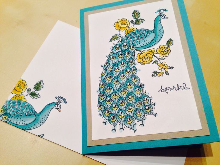 Perfect Peacock stamp set from Stamping Up!  The card was made at a recent card class I held.  http://www.spiralzandcurlz.blogspot.co.uk/2015/01/perfect-peacock-stampin-up.html