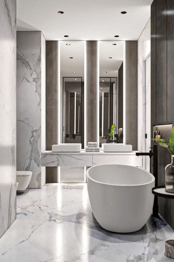 43 Wonderful White Bathroom Design Ideas For Home Page 12 Of 43 Lasdiest Com Daily Women Blog In 2020 White Bathroom Designs Bathroom Interior Bathroom Interior Design