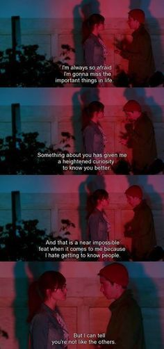 Comet movie 2014 their first conversation at least in that parallel universe