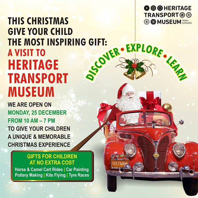 Get unique and memorable experience at museum on Christmas this year! #merrychristmas #christmas #delhievents #delhi #manesar #gurugram #delhibloggers #indianbloggers #travelbloggers #transportmuseum