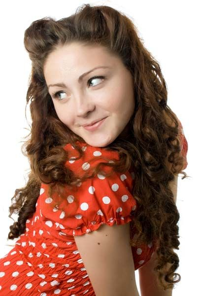 Curly Hair Vintage Style : Best ideas about vintage curly hair on