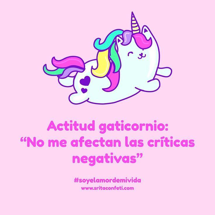 Así como que no me afectan  #gaticornio #goodvibes #buenavibra #feliz #magia #unicornio #empoderamientofemenino #unicornio