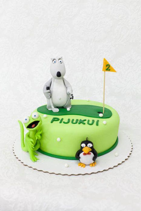 Bernard Bear Cake - by Neva @ CakesDecor.com - cake decorating website