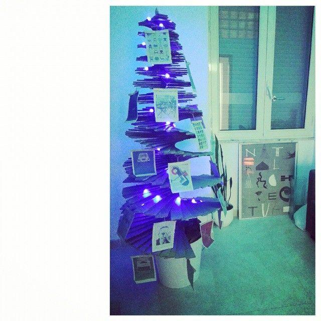 unconventional christmas three paper design architecture home decor