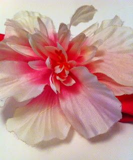 fuşya pembe bebek saç bandı çiçekli bandana