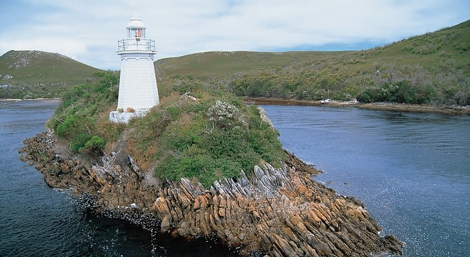Lighthouse in the Gordon River, Tasmania