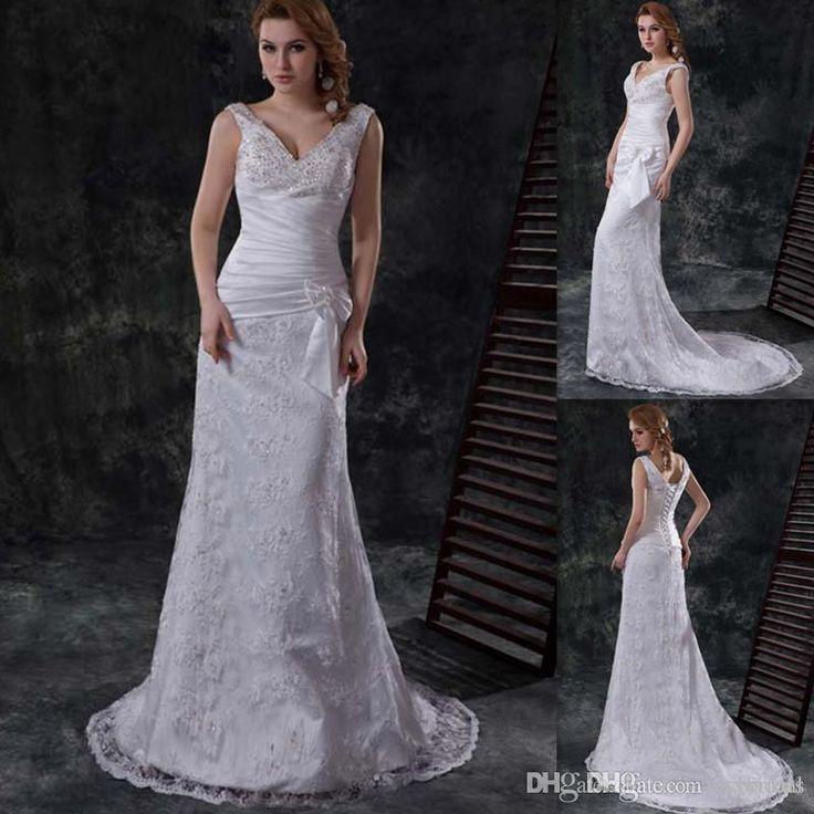 Graceful Sheath Wedding Dresses 2015 Summer A Line V Neck: 25+ Best Ideas About Mature Bride Dresses On Pinterest