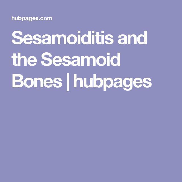 Sesamoiditis and the Sesamoid Bones | hubpages