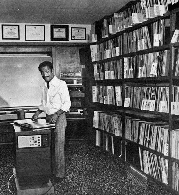 Sammy Davis Jr. digs vinyl...