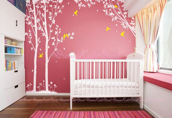 trees decals:wall decals nature wall decals by DreamKidsDecal