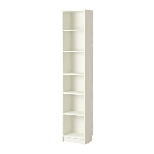 BILLY Bookcase - white - IKEA  For small closet set up. Depth is good. Height would need to go on the left side.