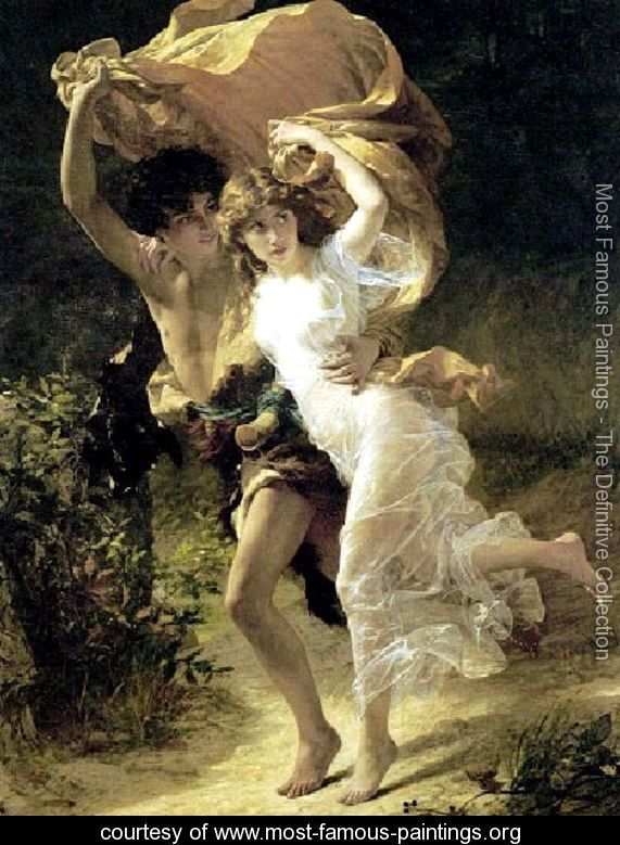 Most Known Paintings | The Storm - Pierre Auguste Cot - www.most-famous-paintings.org