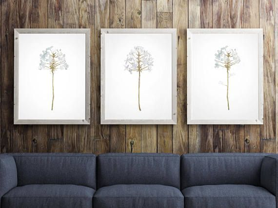 Set of 3 Dandelion Art Flower Dandelion Art Decor Dandelion by LadyWatercolor | Etsy #dandelion #watercolor #print #art #illustration #decor #painting #prints #plant #flower #poster