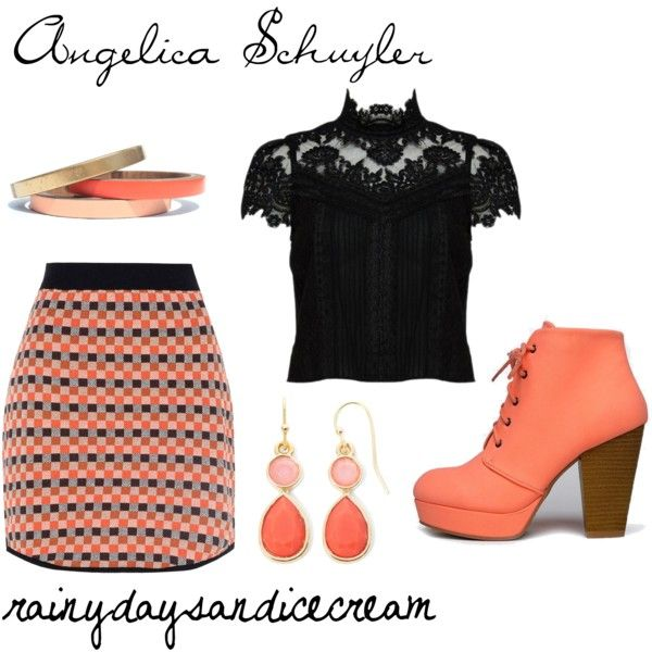 Angelica Schuyler by rainydaysandicecream on Polyvore featuring Alice + Olivia, Glamorous, Qupid, Liz Claiborne, Voz Collective, broadway, musicals, Hamilton and schuylersister
