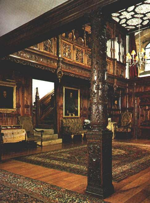Hever Castle, Tower Hall; A bit heavy even for my taste, but the individual details are amazing.