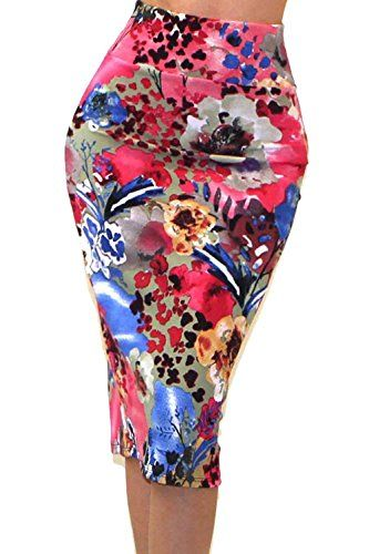 Vivicastle Women's High Waist Band Bodycon Career Office Midi Pencil Skirt