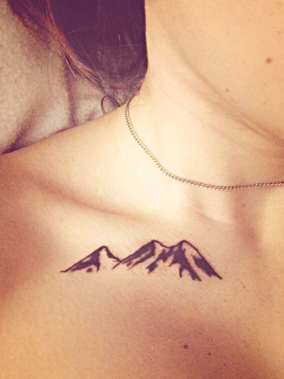 mountain range outlines tattoo - Google Search