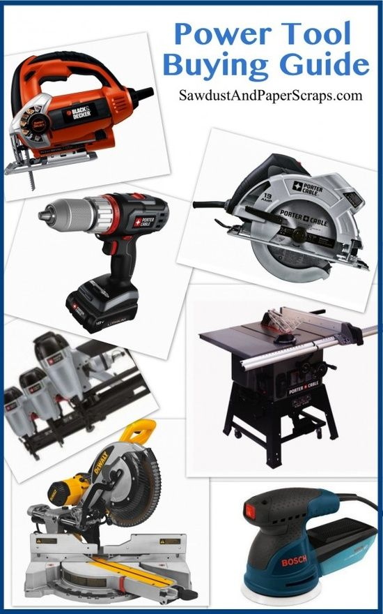 Power tool Buying Guide -I'll need this for when I decide to surprise Nick again like I did at Christmas :)