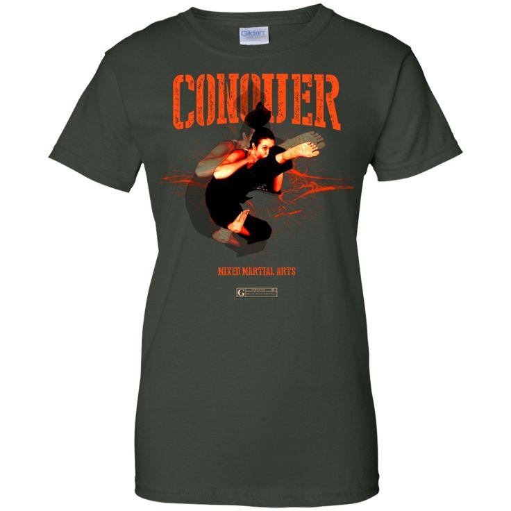 """""""Conquer MMA"""" Ladies Tees & Tanks"""