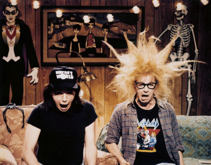 SNL - Wayne Campbell and Garth Algar, coming to you live from Aurora, Illinois's community access channel.