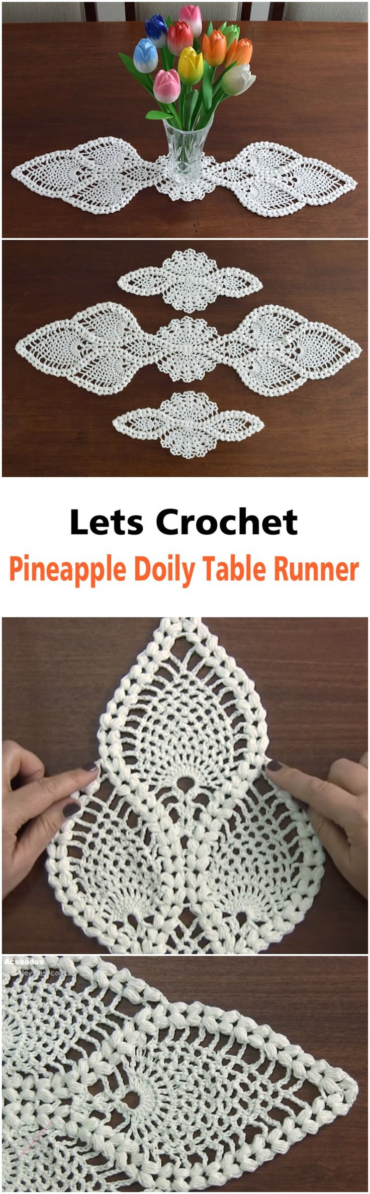 Pineapple Doily Table Runner