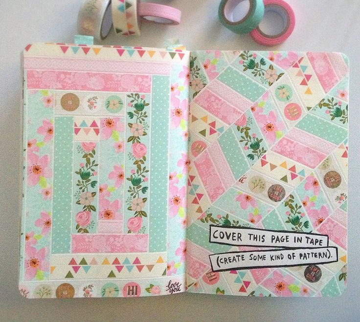 Wreck this Journal - cover this page in tape