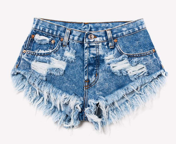 Runwaydreamz Original. Authentic acid wash cut off denim shorts. Holes, rips and super frayed. Perfect. **As a part of our unique wash process, actual item will vary slightly from what's pictured. - M