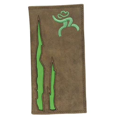HOOey Western Wallet Mens Roughy Rodeo Checkbook Brown Green 1566137W5 ** You can get additional details at the image link.