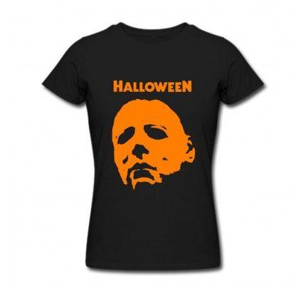 Funny Halloween Michael Myers Women Crew Neck Short Sleeves T-shirt