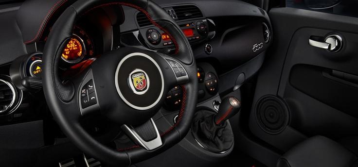 Fiat 500 Abarth interior.