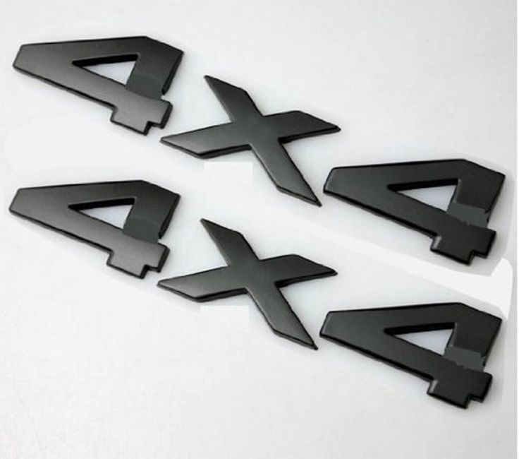 2pcs(1set) Auto Tuning 4 X 4 Logo 3d Decal Emblem Logo Sticker L -- Awesome products selected by Anna Churchill