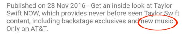 And there was one VERY INTERESTING part of the original caption in the YouTube description of the video announcing the channel. | This Deleted Comment Could Mean Taylor Swift's About To Drop An Album