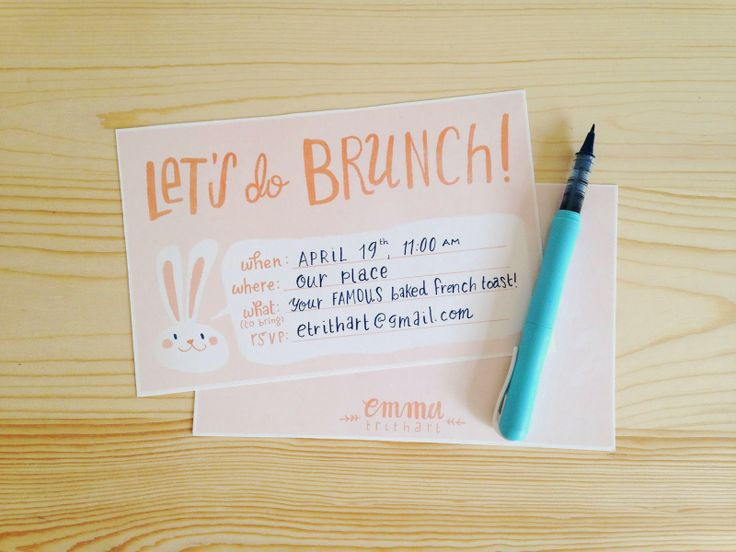 free printable easter brunch invitation (& sticker set) | emma trithart