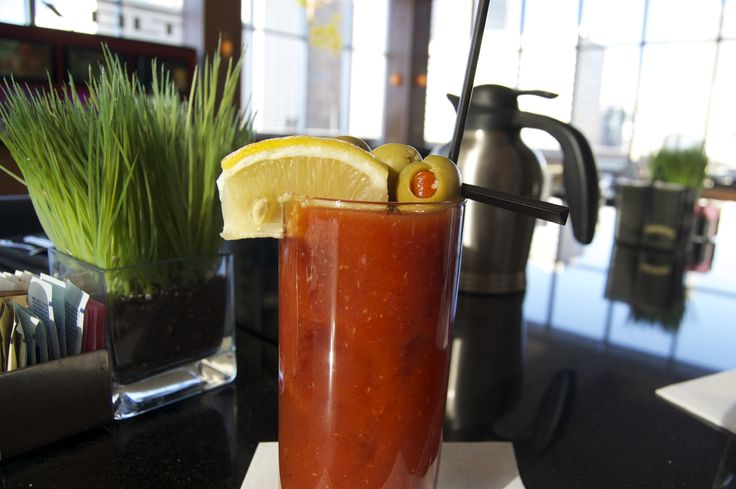 Our Motor City bloody.  Available daily at Volt.  #detroitmarriott  #detroiticon #marriott #marriottintl  #travelbrilliantly  #hotellife  #thed  #detroit  #motown  #motorcity  #visitdetroit  #hotellife  #30millionbetter  #puremichigan  #topofdetroit